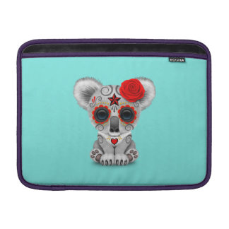 Bolsa Para MacBook Air Dia vermelho do Koala inoperante do bebê