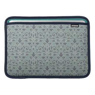 Bolsa Para MacBook Air Enrole a cerceta do azul do creme da cor damasco