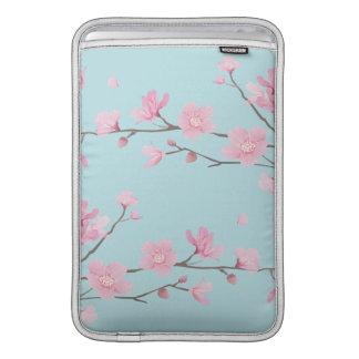 Bolsa Para MacBook Air Flor de cerejeira - azul-céu