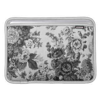 Bolsa Para MacBook Air Mulberry Toile floral roxo azul No.3