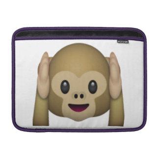 Bolsa Para MacBook Air Não ouça nenhum macaco mau - Emoji