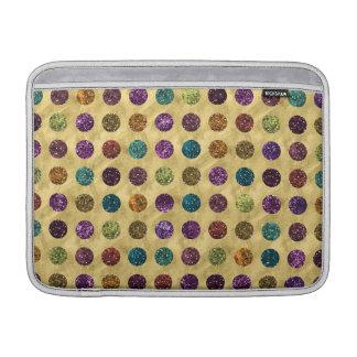 Bolsa Para MacBook Air Ouro colorido das bolinhas do brilho