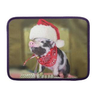 Bolsa Para MacBook Air Porco Papai Noel - porco do Natal - leitão