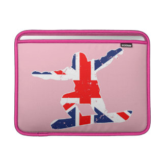 Bolsa Para MacBook Air SNOWBOARDER de Union Jack (branco)