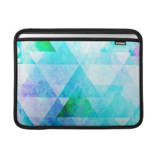 Bolsa Para MacBook Air Teste padrão geométrico da aguarela azul