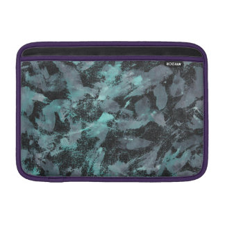 Bolsa Para MacBook Air Tinta verde e branca no fundo preto