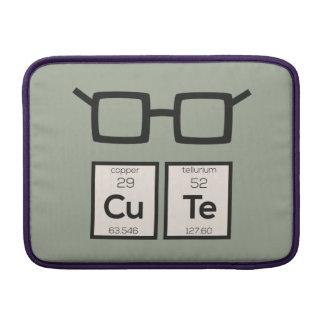 Bolsa Para MacBook Air Vidros bonitos Zwp34 do nerd do elemento químico