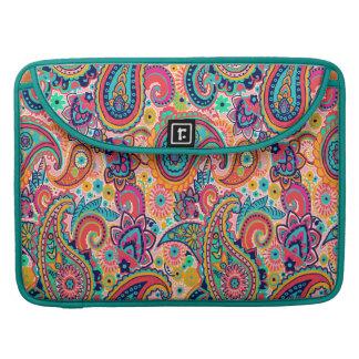 Bolsa Para MacBook Arco-íris brilhante Paisley