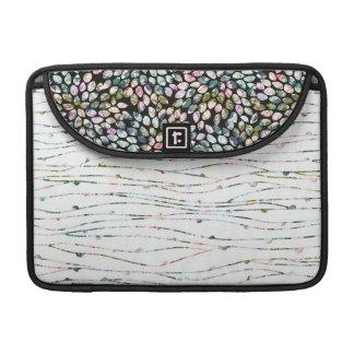 Bolsa Para MacBook Caixa gráfica moderna preta & da hortelã de