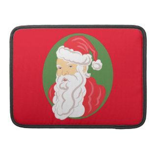 Bolsa Para MacBook Cameo de Papai Noel do Natal