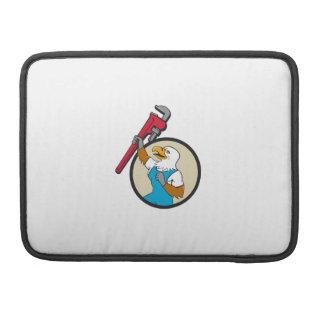 Bolsa Para MacBook Canalizador Eagle que levanta acima o círculo