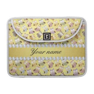 Bolsa Para MacBook Diamantes chiques de Bling da folha de ouro do
