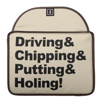 Bolsa Para MacBook Driving&Chipping&Putting&Holing (preto)