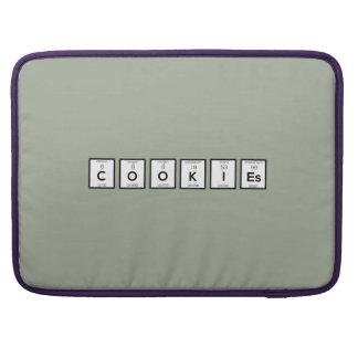 Bolsa Para MacBook Elemento químico Z57c7 dos biscoitos