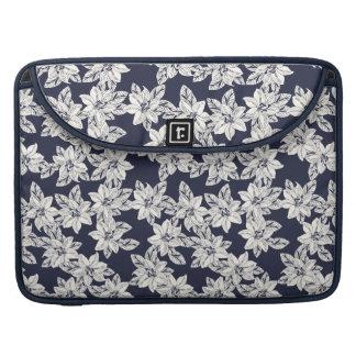 Bolsa Para MacBook Flor tirada mão