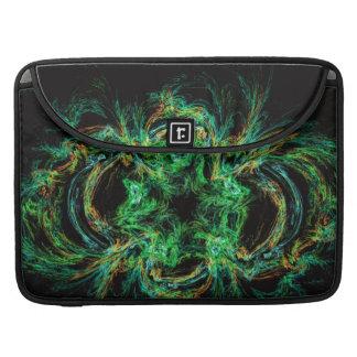 Bolsa Para MacBook Fractal da malaquite como uma fatia de pedra