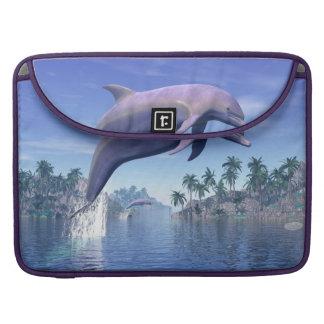 Bolsa Para MacBook Golfinho nos trópicos - 3D rendem