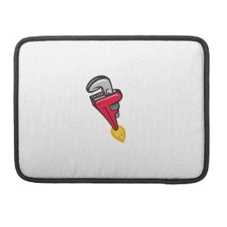 Bolsa Para MacBook Impulsionador de Rocket da chave de tubulação que
