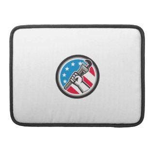 Bolsa Para MacBook Lado Circ angular da bandeira dos EUA da chave de