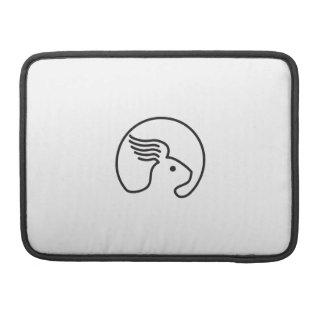Bolsa Para MacBook Lado da orelha da asa do coelho retro
