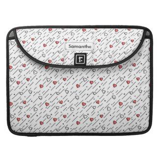 Bolsa Para MacBook Linhas de coração