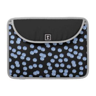 """Bolsa Para MacBook Luva 13"""" de Macbook das bolinhas azuis pro"""