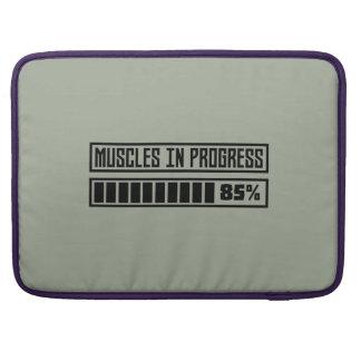 Bolsa Para MacBook Muscles o exercício em andamento Z8gnr