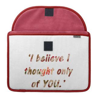 Bolsa Para MacBook O orgulho e o preconceito citam frente e verso
