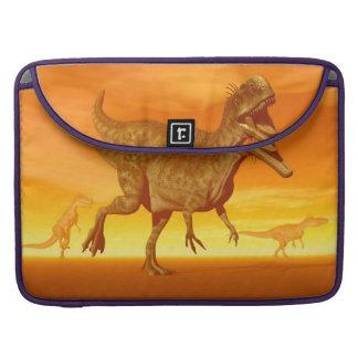 Bolsa Para MacBook Os dinossauros 3D do Monolophosaurus rendem