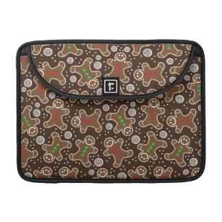 Bolsa Para MacBook Pão-de-espécie verdes vermelhos bonitos do Natal