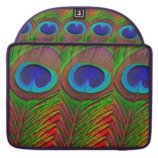 Bolsa Para MacBook Pavão colorido