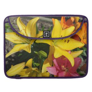 Bolsa Para MacBook Pintura das flores