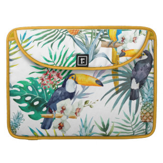 Bolsa Para MacBook Pro Aguarela tropical do pássaro do papagaio do