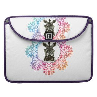 Bolsa Para MacBook Pro Animal do estilo da zebra do hipster