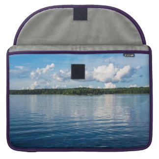Bolsa Para MacBook Pro Arquipélago na costa de mar Báltico na suecia