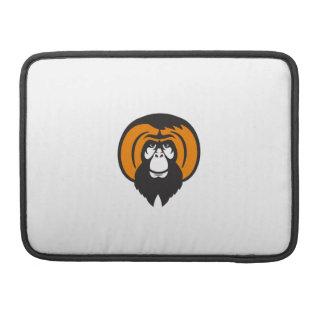 Bolsa Para MacBook Pro Cabelo Tussled farpado do orangotango retro