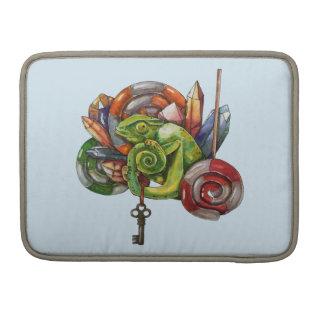 Bolsa Para MacBook Pro camaleão e cristais