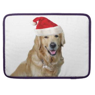 Bolsa Para MacBook Pro Cão-animal de estimação do cão-papai noel de claus