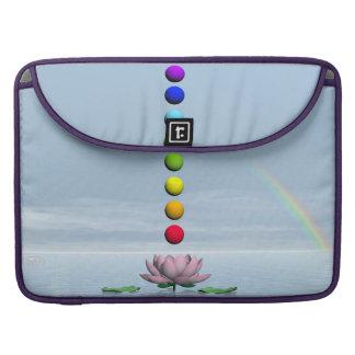 Bolsa Para MacBook Pro Chakras e arco-íris - 3D rendem