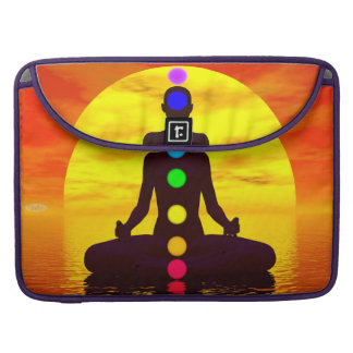 Bolsa Para MacBook Pro Chakras no por do sol - 3D rendem