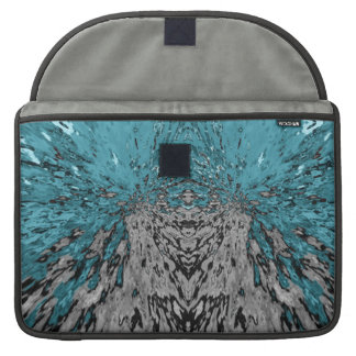 Bolsa Para MacBook Pro Chuva do caleidoscópio de turquesa