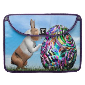 Bolsa Para MacBook Pro Coelho que empurra o ovo da páscoa - 3D rendem