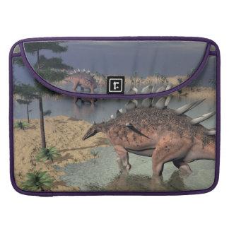 Bolsa Para MacBook Pro Dinossauros do Kentrosaurus no deserto - 3D rendem