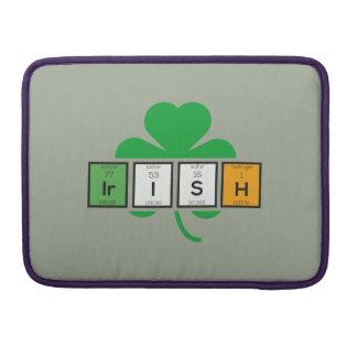 Bolsa Para MacBook Pro Elemento químico Zz37b do cloverleaf irlandês