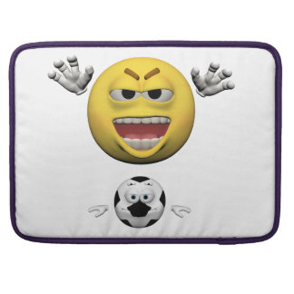 Bolsa Para MacBook Pro Emoticon amarelo ou smiley do futebol