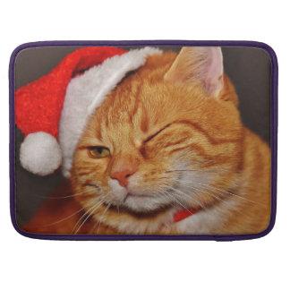 Bolsa Para MacBook Pro Gato alaranjado - gato de Papai Noel - Feliz Natal