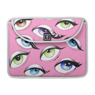 Bolsa Para MacBook Pro Grupo do rosa dos olhos