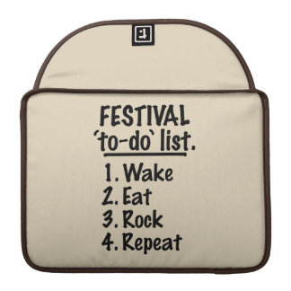 Bolsa Para MacBook Pro Lista do tumulto do ` do festival' (preto)