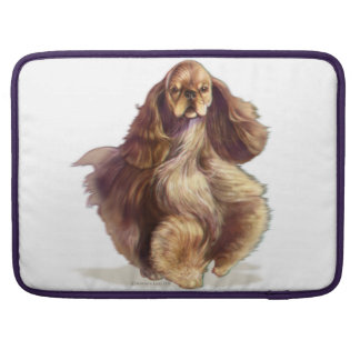 Bolsa Para MacBook Pro Luva de MacBook Pro do cão de cocker spaniel do
