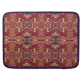 Bolsa Para MacBook Pro Mão colorida abstrata design encaracolado tirado